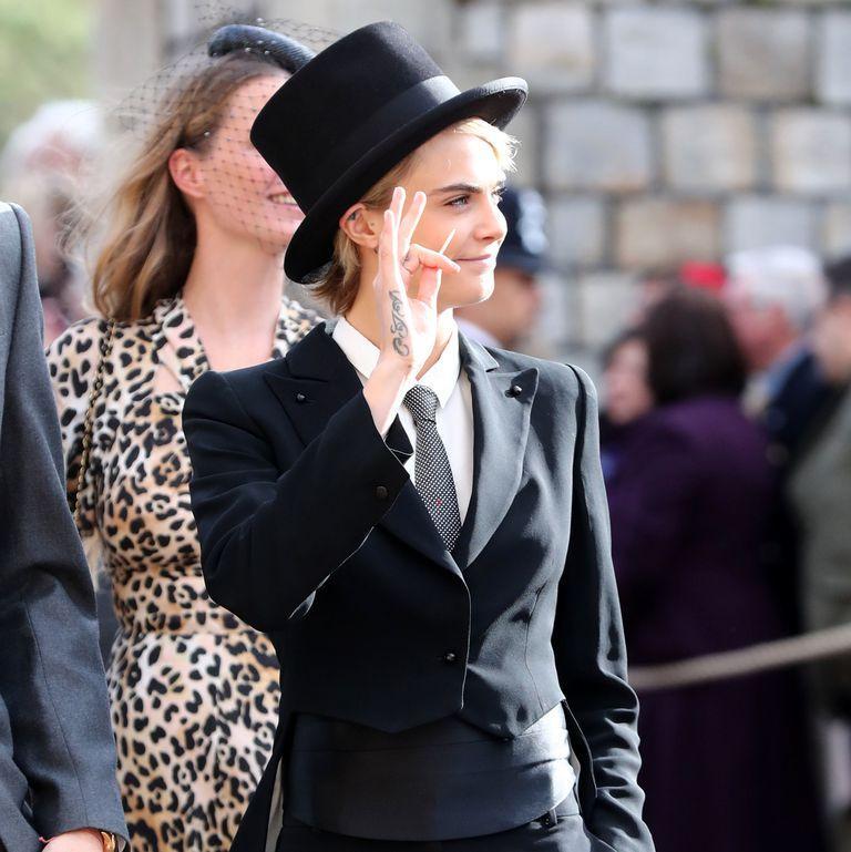 Pakai Tuksedo ke Pernikahan Putri Eugenie, Cara Delevingne Langgar Aturan Istana Soal Busana Tamu Undangan